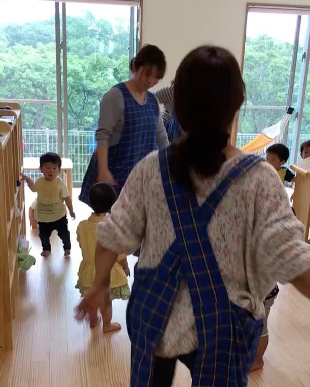 先生本気ダンス︎('ω'︎ )#エビカニクス #0歳児#1歳児#2歳児#舞多聞もりの保育園#もりの保育園#ピンクのハートプロジェクト#0歳からのyoga#まんまるねんね