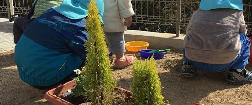 みんなでお砂場遊び☆いい天気で気持ちがいいね…・#神戸市 #垂水区 #舞多聞 #もりの保育園 #保育園  #舞多聞100年の杜 #サンウッド株式会社
