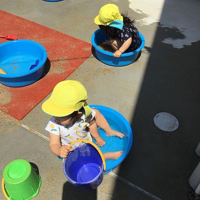 暑くなってきてお水が気持ちいいね♪バチャバチャしたりジャンプしたりいっぱい遊ぼうね🤗.#神戸市#垂水区#舞多聞#もりの保育園#舞多聞100年の杜 #サンウッド株式会社