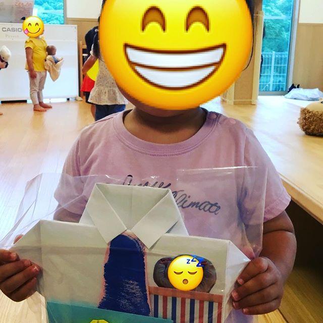 明日は父の日☆プレゼントを作ったよ♡パパ喜んでくれるかな??#神戸市#垂水区#もりの保育園#舞多聞100年の杜 #サンウッド株式会社