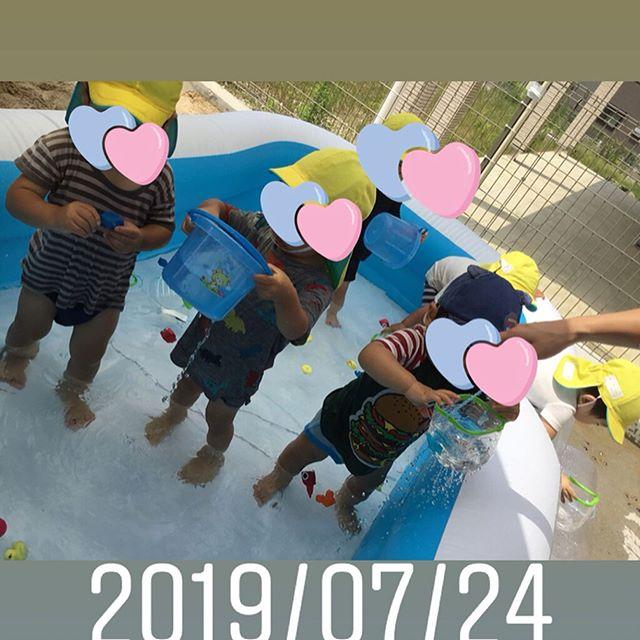 手作りおもちゃとみずあそびお水ととっても仲良しになってきたね#神戸市#垂水区#舞多聞#もりの保育園#舞多聞100年の杜 #サンウッド株式会社