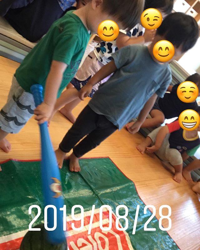 夏の風物詩スイカ割りをみんなで楽しみました♪#神戸市#垂水区#舞多聞#もりの保育園#舞多聞100年の杜 #サンウッド株式会社